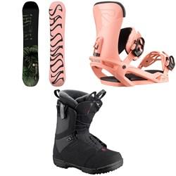Salomon Oh Yeah Snowboard + Vendetta Snowboard Bindings + Pearl Snowboard Boots - Women's 2020