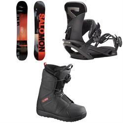 Salomon Pulse Snowboard ​+ Trigger X Snowboard Bindings ​+ Faction Snowboard Boots 2020