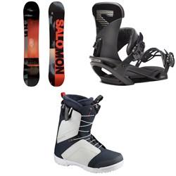 Salomon Pulse Snowboard + Trigger X Snowboard Bindings + Faction Snowboard Boots