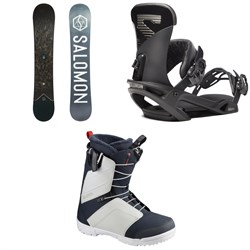 Salomon Sight X Snowboard ​+ Trigger X Snowboard Bindings ​+ Faction Snowboard Boots 2020