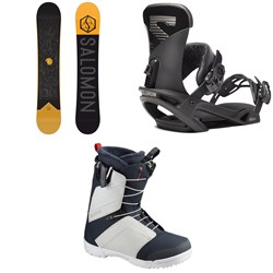 Salomon Sight Snowboard ​+ Trigger X Snowboard Bindings ​+ Faction Snowboard Boots 2020