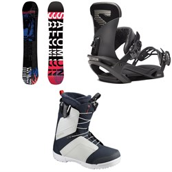 Salomon Sleepwalker Snowboard ​+ Trigger X Snowboard Bindings ​+ Faction Snowboard Boots 2020
