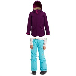 Burton Shortleaf Parka ​+ Elite Cargo Pants - Girls'