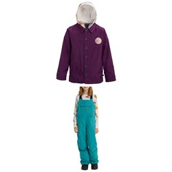 Burton Ripton Coaches System Jacket + Skylar Bibs - Kids'