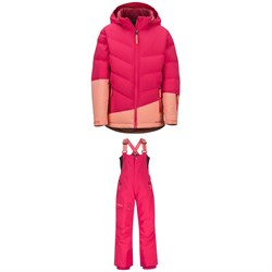 Marmot Slingshot Jacket - Girls' ​+ Marmot Rosco Bibs - Kids'