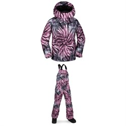 Volcom Westerlies Insulated Jacket - Girls' ​+ Volcom Barkley Bib Overalls - Kids'