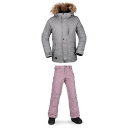Volcom So Minty Insulated Jacket + Frochickadee Insulated Pants - Girls'