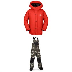 Volcom Ripley Insulated Jacket - Boys' ​+ Volcom Barkley Bib Overalls - Kids'
