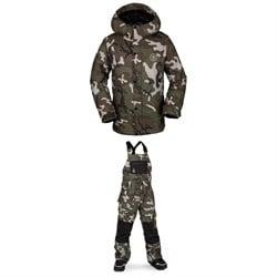 Volcom Ripley Insulated Jacket - Boys' + Volcom Barkley Bib Overalls - Kids'