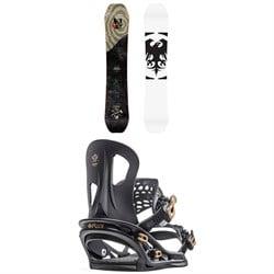Never Summer Dipstick Snowboard + Flux TT Snowboard Bindings