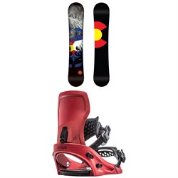 Never Summer Heritage Snowboard ​+ Flux XF Snowboard Bindings 2020