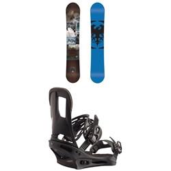 Never Summer Chairman Snowboard + Burton Cartel Snowboard Bindings 2020