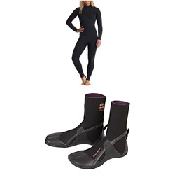 Billabong 4​/3 Salty Dayz Wetsuit ​+ Furnace Synergy 3mm Split Toe Wetsuit Boots - Women's