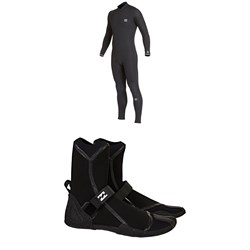Billabong 4​/3 Revolution Chest Zip GBS Wetsuit ​+ Furnace 3mm Ultra HS Wetsuit Boots