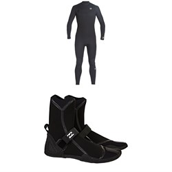 Billabong 4​/3 Absolute Chest Zip GBS Wetsuit ​+ Furnace 3mm Ultra HS Wetsuit Boots