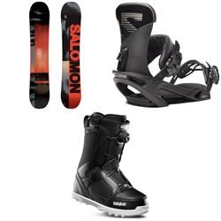 Salomon Pulse Snowboard + Salomon Trigger X Snowboard Bindings + thirtytwo STW Boa Snowboard Boots 2020