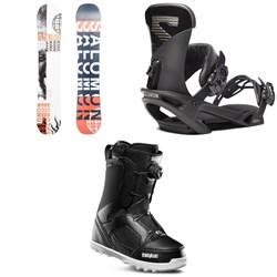 Salomon Sleepwalker X Snowboard + Salomon Trigger X Snowboard Bindings + thirtytwo STW Boa Snowboard Boots 2020