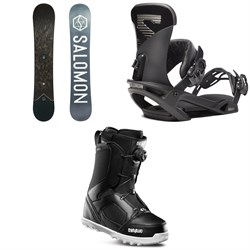 Salomon Sight X Snowboard ​+ Salomon Trigger X Snowboard Bindings ​+ thirtytwo STW Boa Snowboard Boots 2020