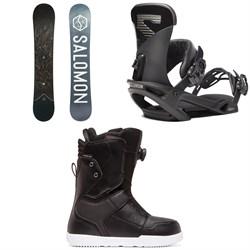 Salomon Sight X Snowboard + Salomon Trigger X Snowboard Bindings + DC Scout Boa Snowboard Boots 2020