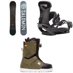 Salomon Sight X Snowboard + Salomon Trigger X Snowboard Bindings + DC Scout Boa Snowboard Boots