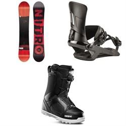 Nitro Prime Screen Snowboard + Nitro Rambler Snowboard Bindings + thirtytwo STW Boa Snowboard Boots