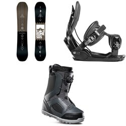 Rome Mechanic SE Snowboard + Flow Alpha Snowboard Bindings + thirtytwo STW Boa Snowboard Boots