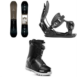Rome Mechanic SE Snowboard ​+ Flow Alpha Snowboard Bindings ​+ thirtytwo STW Boa Snowboard Boots 2019