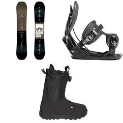 Rome Mechanic SE Snowboard  + Flow Alpha Snowboard Bindings  + Burton Moto Boa R Snowboard Boots 2018