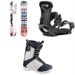 Salomon Sleepwalker X Snowboard ​+ Trigger X Snowboard Bindings ​+ Faction Snowboard Boots 2020