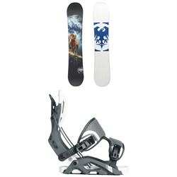 Never Summer West Snowboard ​+ Flow Fuse Fusion Snowboard Bindings