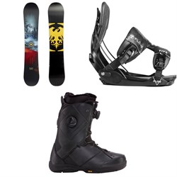 Never Summer Snowtrooper Snowboard ​+ Flow Five Fusion Snowboard Bindings ​+ K2 Maysis Snowboard Boots