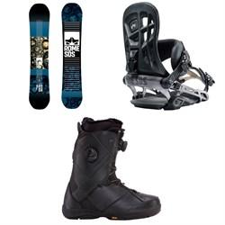 Rome Reverb Rocker SE Snowboard + 390 Boss Snowboard Bindings + K2 Maysis Snowboard Boots