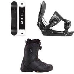 Flow Merc Snowboard 2018 + Five Fusion Snowboard Bindings  + K2 Maysis Snowboard Boots