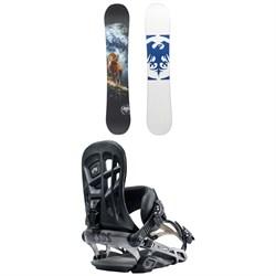 Never Summer West Snowboard + Rome 390 Boss Snowboard Bindings