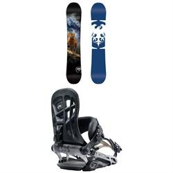 Never Summer West X Snowboard  + Rome 390 Boss Snowboard Bindings