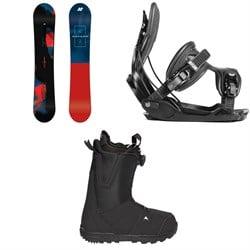 K2 Raygun Snowboard  + Flow Alpha Snowboard Bindings  + Burton Moto Boa Snowboard Boots 2018