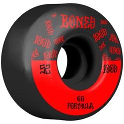 Bones 100s #13 Wide OG Formula V4 Black Skateboard Wheels