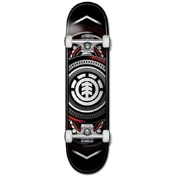 Element Hatched Red Silver 8.0 Skateboard Complete