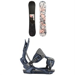 Salomon Wonder X Snowboard ​+ Flow Mayon Snowboard Bindings - Women's 2020