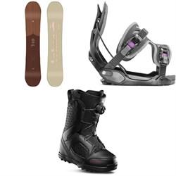 Arbor Ethos Snowboard + Flow Haylo Snowboard Bindings + thirtytwo STW Boa Snowboard Boots - Women's 2020