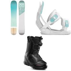 Nidecker Elle Snowboard + Flow Haylo Snowboard Bindings + thirtytwo STW Boa Snowboard Boots - Women's