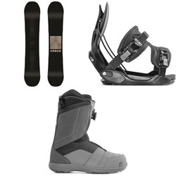 Arbor Formula Rocker Snowboard + Flow Alpha Snowboard Bindings + Nidecker Ranger Boa Snowboard Boots