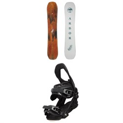 Arbor Swoon Rocker Snowboard ​+ Arbor Sequoia Snowboard Bindings - Women's 2021