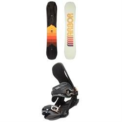 Arbor Shiloh Camber Snowboard + Arbor Cypress Snowboard Bindings 2021