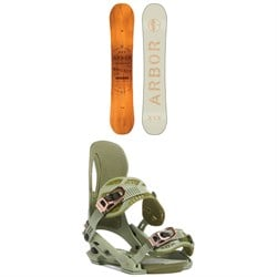 Arbor Whiskey Snowboard ​+ Arbor Cypress Snowboard Bindings 2020