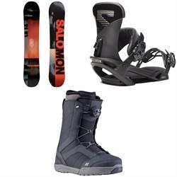 Salomon Pulse Snowboard + Salomon Trigger X Snowboard Bindings + K2 Raider Snowboard Boots