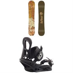 Arbor Cadence Camber Snowboard + Burton Stiletto Snowboard Bindings - Women's 2020