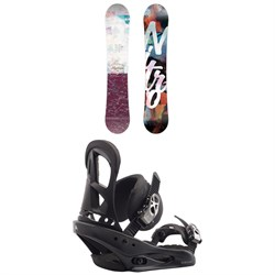 Nitro Mystique Snowboard + Burton Stiletto Snowboard Bindings - Women's
