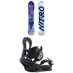 Nitro Drop Snowboard + Burton Stiletto Snowboard Bindings - Women's