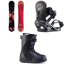 K2 First Lite Snowboard + K2 Cassette Snowboard Bindings + Ride Harper Snowboard Boots - Women's